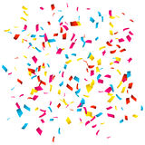 Colorful Confetti isolated on white. Confetti explosion Royalty Free Stock Photos