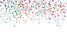 Colorful confetti, paper scatter celebration party abstract back vector illustration