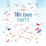 Colorful confetti party background,  greeting card Stock Photo
