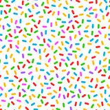 Colorful confetti simple seamless pattern, vector Royalty Free Stock Image