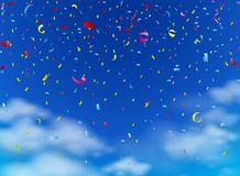 Colorful confetti on sky royalty free illustration