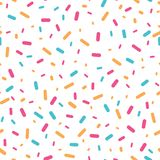 Colorful confetti sprinkles seamless pattern. Royalty Free Stock Photos