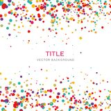 Colorful confetti style circle background Vector Royalty Free Stock Photography