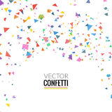 Colorful Confetti  on Transparent square Background Royalty Free Stock Images
