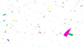 Colorful Confetti Video Background - Slow Motion - Defocused stock video