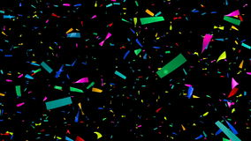 Colorful Confetti Video - Slow Motion - Alpha Channel stock video footage