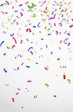 Colorful confetti on white background for celebration Stock Images
