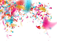 Colorful confetti on white background. EPS 10 Stock Photography