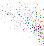 Colorful confetti on white background Stock Images