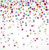 Colorful confetti on white background Stock Photo