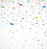 Colorful confetti on white background. Illustration of Colorful confetti on white background Stock Photos
