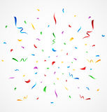 Colorful confetti on white background. Illustration of Colorful confetti on white background Stock Image