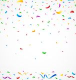 Colorful confetti on white background. Illustration of Colorful confetti on white background Royalty Free Stock Photo