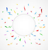 Colorful confetti on white background. Illustration of Colorful confetti on white background Stock Images