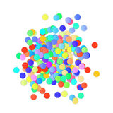 Colorful Confetti on white background. Vector. Illustration Royalty Free Stock Images