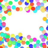 Colorful Confetti on white background. Vector Royalty Free Stock Images