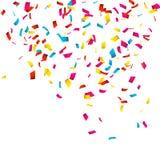 Colorful Confetti on white. Confetti explosion stock illustration