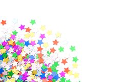 Colorful confettis Stock Image