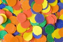 Colorful confettis Stock Photo
