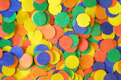 Colorful confettis Stock Images