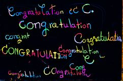 Colorful congratilation font royalty free stock image