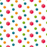 Colorful conncept geomerty seamless pattern. Royalty Free Stock Image