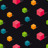Colorful conncept geomerty seamless pattern. Royalty Free Stock Images