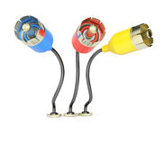 Colorful connection plugs Stock Image