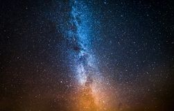 Colorful constellation and universe with million stars at night. Europe stock photos