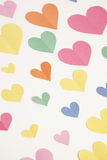 Colorful Construction Paper Hearts Stock Images