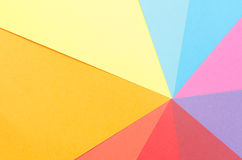 Colorful construction paper. Sheets stacked to form rays Royalty Free Stock Image