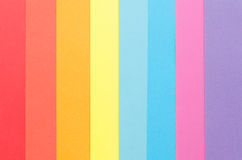 Colorful construction paper stripes. Colorful construction paper arranged vertically Stock Photos