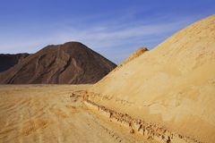 Colorful construction sand mound quarry variety Stock Image