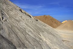 Colorful construction sand mound quarry variety Royalty Free Stock Photography