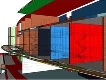 Colorful Constructions Of Line Vector Royalty Free Stock Image