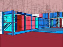 Colorful Constructions Of Line Vector Stock Images