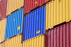 Colorful Container area Stock Image