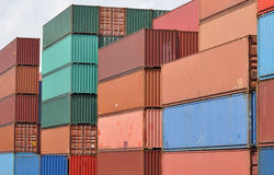 Colorful containers Stock Photo