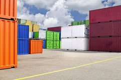 Colorful Containers For Transport Royalty Free Stock Image