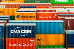 Colorful Containers stock images