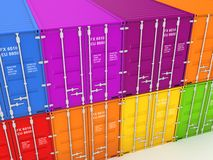 Colorful containers. Royalty Free Stock Photography