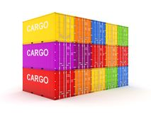 Colorful containers. Royalty Free Stock Images
