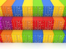 Colorful containers. Royalty Free Stock Photos