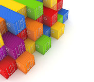 Colorful containers. Royalty Free Stock Image