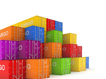 Colorful containers. Stock Photo