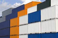 Colorful Containers Royalty Free Stock Images