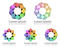 Colorful continuous loop icons vector illustration