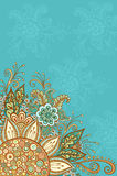 Colorful and Contour Floral Pattern Royalty Free Stock Image