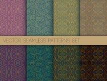 Colorful contour patterns set Stock Photo