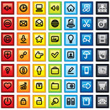 Colorful Contour Pictogram Royalty Free Stock Images
